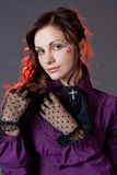 Classic Gothic Girl Portrait Stock Images