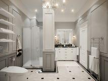 Classic gray bathroom interior design Stock Image