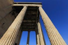 Classic Greek columns, Acropolis, Athens Stock Photo