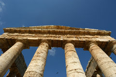Classic Greek (Doric) Temple Royalty Free Stock Image