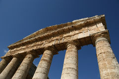 Classic Greek (Doric) Temple at Segesta Royalty Free Stock Image