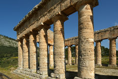Classic Greek (Doric) Temple at Segesta Stock Photo
