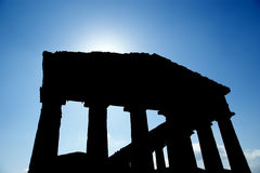 Classic Greek (Doric) Temple at Segesta in Sicily Stock Photography