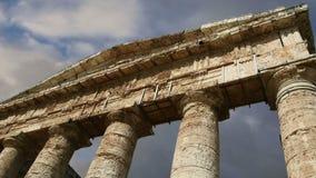 Classic Greek Doric Temple at Segesta in Sicily