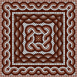 Classic Greek mosaic. Vector image with classic Greek mosaic Royalty Free Stock Images