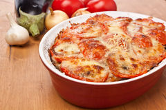 Classic Greek Moussaka with Eggplant Royalty Free Stock Photos