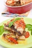 Classic Greek Moussaka with Eggplant Stock Photo