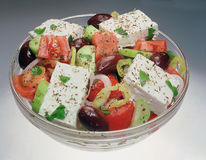 Classic Greek salad. Royalty Free Stock Photo
