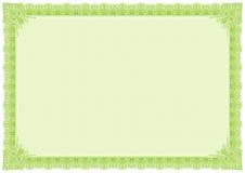 Classic green border editable colour vector stock image
