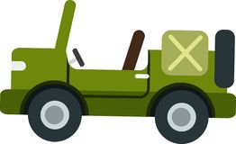 Classic green jeep vector on the White Blackground vector illustration