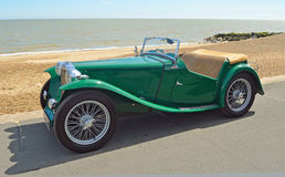 Classic Green MG Sports car Stock Images