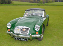 Classic green MG A Sports motor car. Stock Image