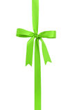 Classic green ribbon bow for packaging gifts Stock Photo