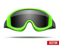 Classic green snowboard ski goggles with black Royalty Free Stock Images