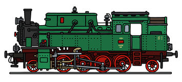 Classic green steam locomotive Stock Image