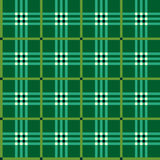 Classic green tartan fabric Royalty Free Stock Photography