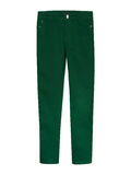 Classic green trousers isolated on white Royalty Free Stock Image