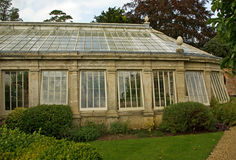 Classic greenhouse. A classic greenhouse at Castle Ashby, Northamptonshre stock image