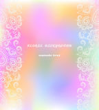 Classic greeting card with decorative elements . Vector print. Beautiful vertical symmetrical pattern, delicate colorful     background. Use for wedding card Stock Photography