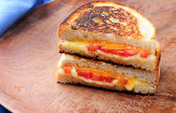 Classic grilled cheese and tomato sandwiches Stock Photos