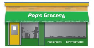 classic grocery store απεικόνιση αποθεμάτων