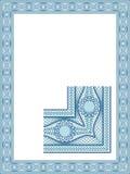 Classic guilloche border Stock Photo