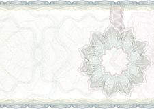 Classic guilloche border for certificate. Royalty Free Stock Photo