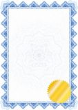 Classic guilloche border / diploma or certificate Royalty Free Stock Image