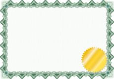 Classic guilloche border / diploma or certificate Stock Image