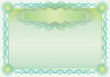 Classic guilloche border for diploma or certificate Stock Photos