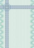 Classic guilloche border for diploma or certificate Stock Photo