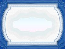 Classic guilloche border for diploma or certificate Royalty Free Stock Image