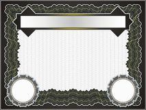 Classic guilloche border for diploma or certificate Royalty Free Stock Photography