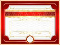 Classic guilloche border for diploma or certificate Royalty Free Stock Images