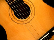 Classic Guitar. A close up view of classical guitar stock photo