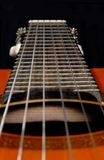 Classic guitar. Close-up shot of classic guitar Royalty Free Stock Images