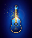 Classic Guitar, abstract illustration. Vector graphic. Stock Photos