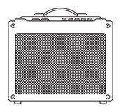 Classic Guitar Amplifier Stock Image
