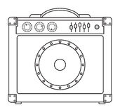 Classic Guitar Amplifier Royalty Free Stock Photo
