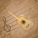 Classic Guitar Background Theme Royalty Free Stock Photos
