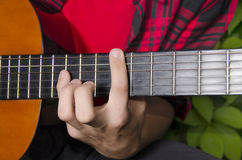 Classic guitar chord Stock Image
