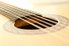 Classic Guitar Closeup. Classic Guitar Close up Image Stock Photo