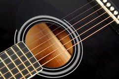 Classic guitar details Royalty Free Stock Photos