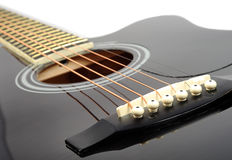 Classic guitar details Royalty Free Stock Photo