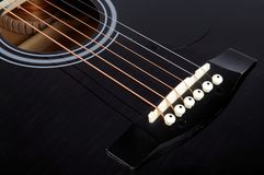 Classic guitar details Stock Photography