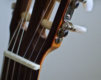 Classic guitar head Stock Photography