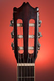 Classic guitar head stock Stock Images