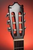 Classic guitar head stock Stock Photos