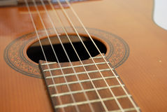 Classic guitar with nylon strings Stock Photography