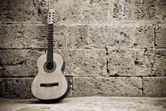 Free Classic Guitar On Wall Stock Photo - 5517390